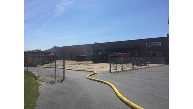Employees evacuated due to fire outside Goodwill warehouse