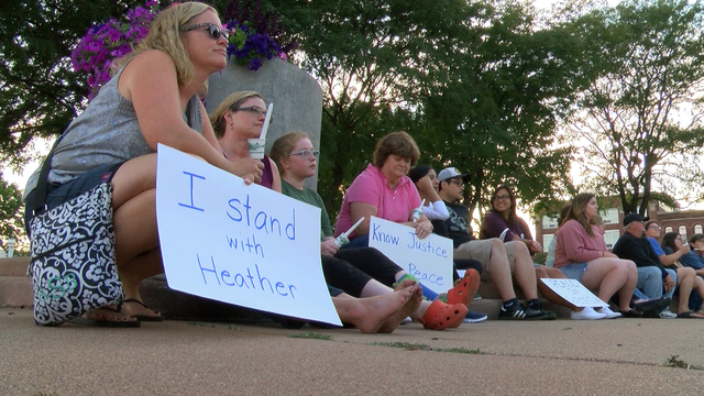 Change Peoria holds a vigil for the protesters of Charlottesville at Peoria's Riverfront Park