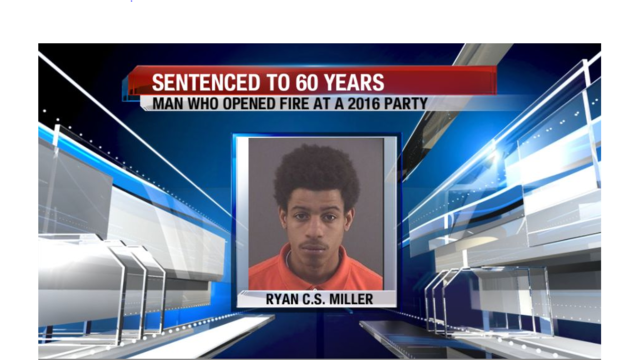 Man who shot people attending a party sentenced to 60 years in prison