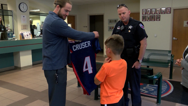 A Bloomington boy that was hit by a car gets a special gift from the Bloomington Police Department
