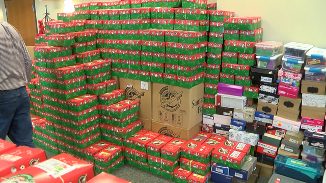Forest Baptist Church gets ready for Operation Christmas Child