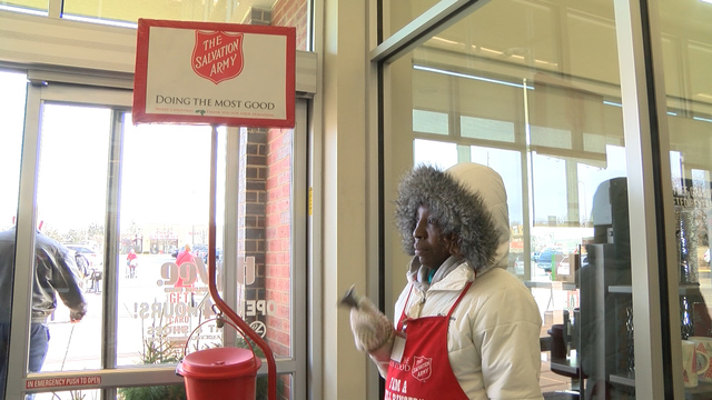 Boy steals Salvation Army kettle from man at mall, police say