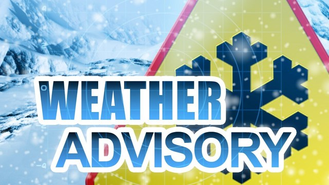 Weather Advisory: Snow and blowing snow for Christmas Eve and Christmas Day