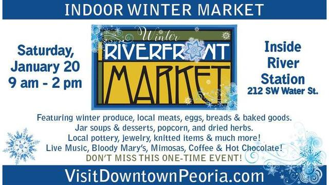 Peoria's RiverFront Market hosting one-time winter event