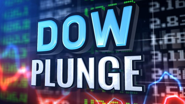 Dow Plunges Again, Closes Down More Than 1000 Points