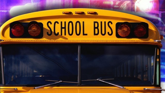 School bus overturns after colliding with vehicle, minor injuries reported