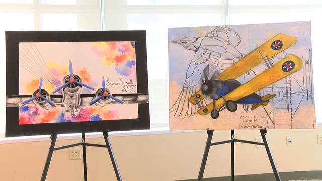 C.I. students share art with local airports
