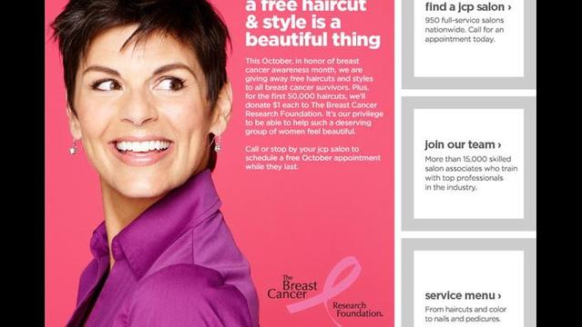 JCPenney Salon Offers Free Haircuts to Breast Cancer Survivors