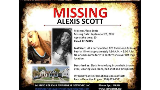 The search begins for a missing woman in Peoria.