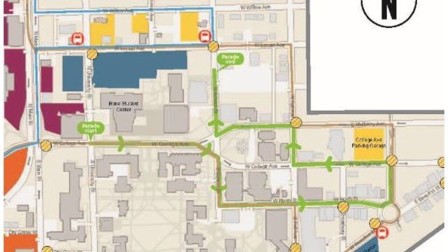 Weekend road closures in the Normal for ISU Homecoming Parade