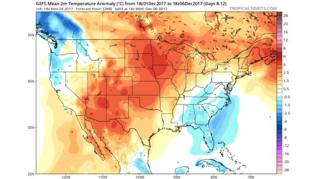 Unseasonably Warm Temperatures Expected Through Early December