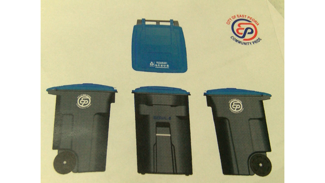 East Peoria mandatory recycling container program
