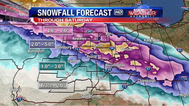 Winter weather invades spring in Central Illinois