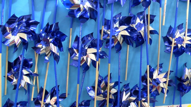 Pinwheels planted for child abuse prevention month