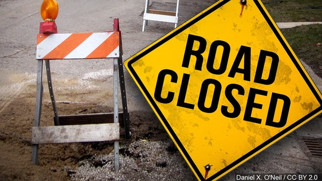 Westbound 74 closed near Galesburg Thursday night