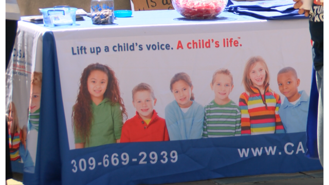 Hands Around the Courthouse for child abuse prevention