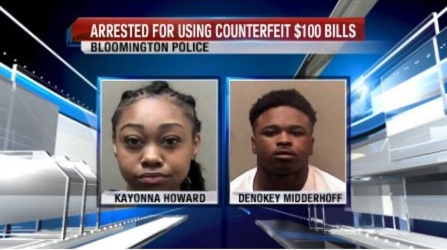 Two people arrested for using counterfeit $100 bills