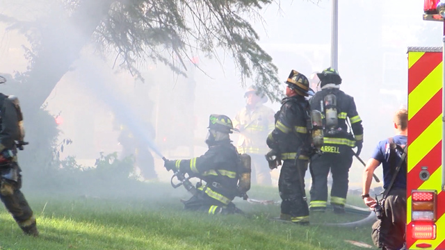 Firefighters beat the heat and the blaze