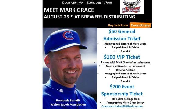 Fundraiser event to feature former Cubs, Peoria Chiefs player Mark Grace