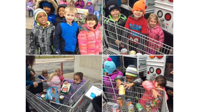 Chesterbrook Academy Preschool students deliver 500 food items to those in need