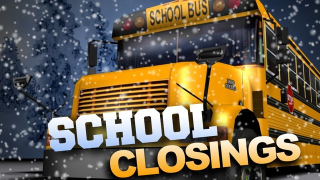All winter weather school closings for Tuesday-Thursday