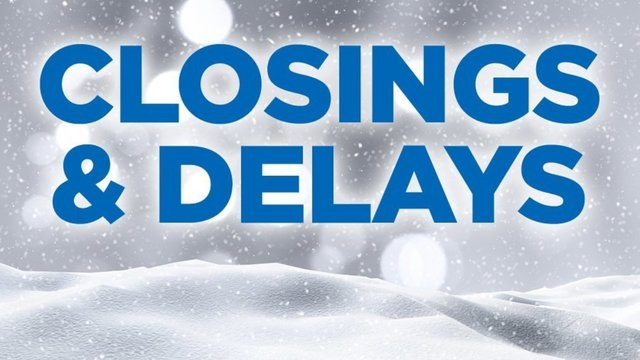 CLOSINGS: All school, business, church closings can be found here