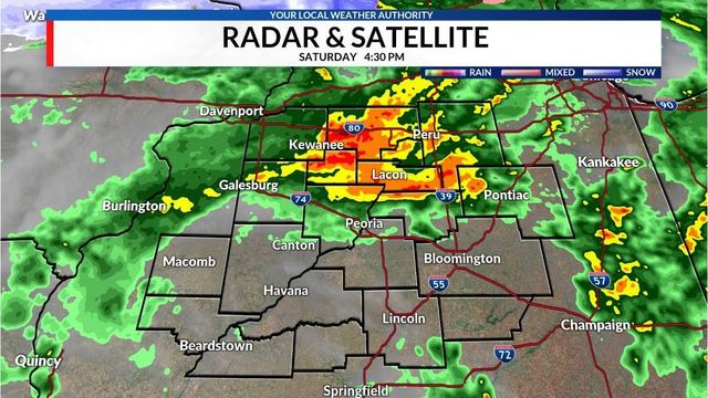 Weekend storms bring record rainfall to Central Illinois